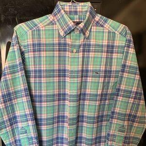 Vineyard Vines small LS Classic Fit Tucker shirt
